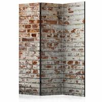 Vouwscherm - Stenen muur 135x172cm , gemonteerd geleverd (kamerscherm) dubbelzijdig geprint