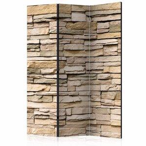 Vouwscherm - Decoratieve stenen 135x172cm