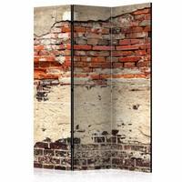 Vouwscherm - Stads muur 135x172cm , gemonteerd geleverd (kamerscherm) dubbelzijdig geprint