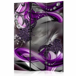 Vouwscherm - Diamanten op het paars 135x172cm