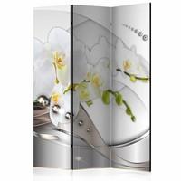Vouwscherm - Dans van de Orchidee 135x172cm , gemonteerd geleverd (kamerscherm)