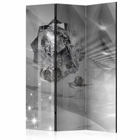 Vouwscherm - Abstract grijs 135x172cm