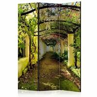 Vouwscherm - Romantische tuin 135x172cm , gemonteerd geleverd (kamerscherm)