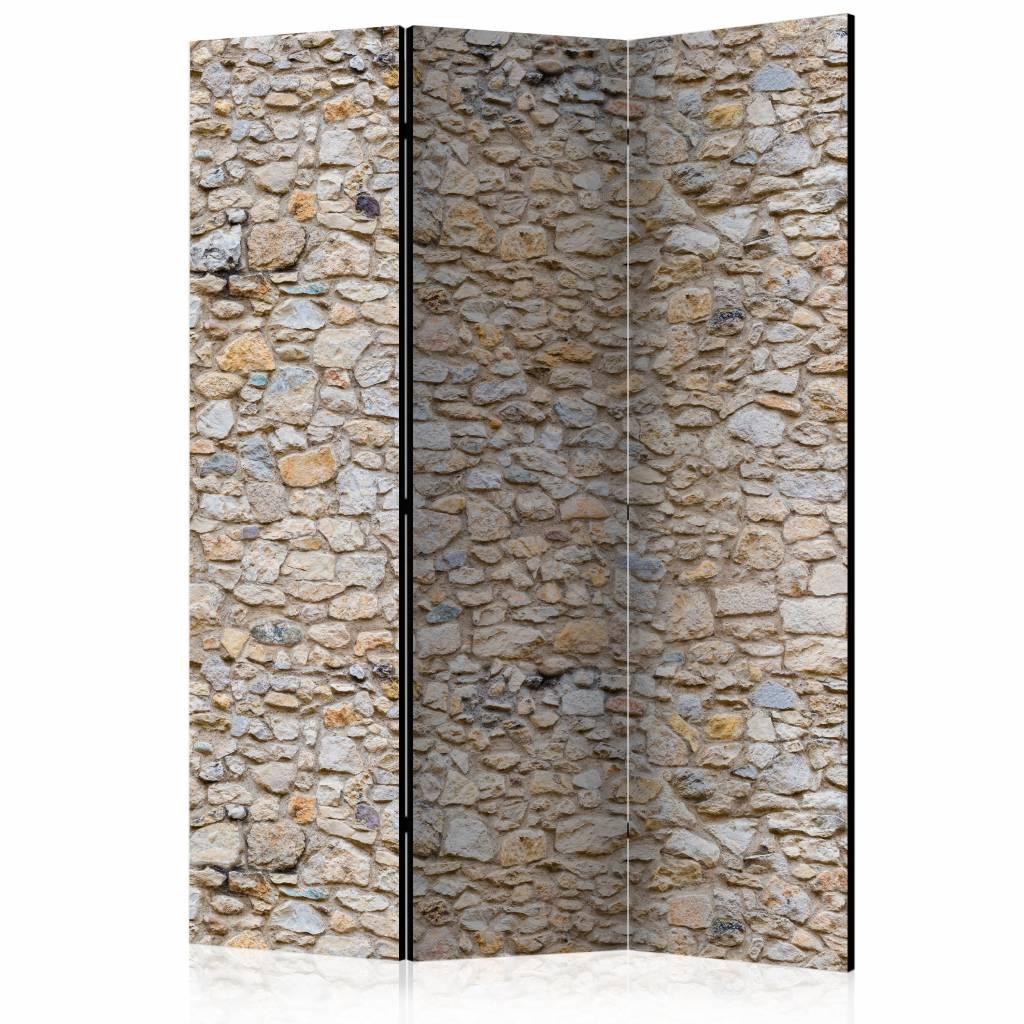 Vouwscherm - Stenen muur 135x172cm
