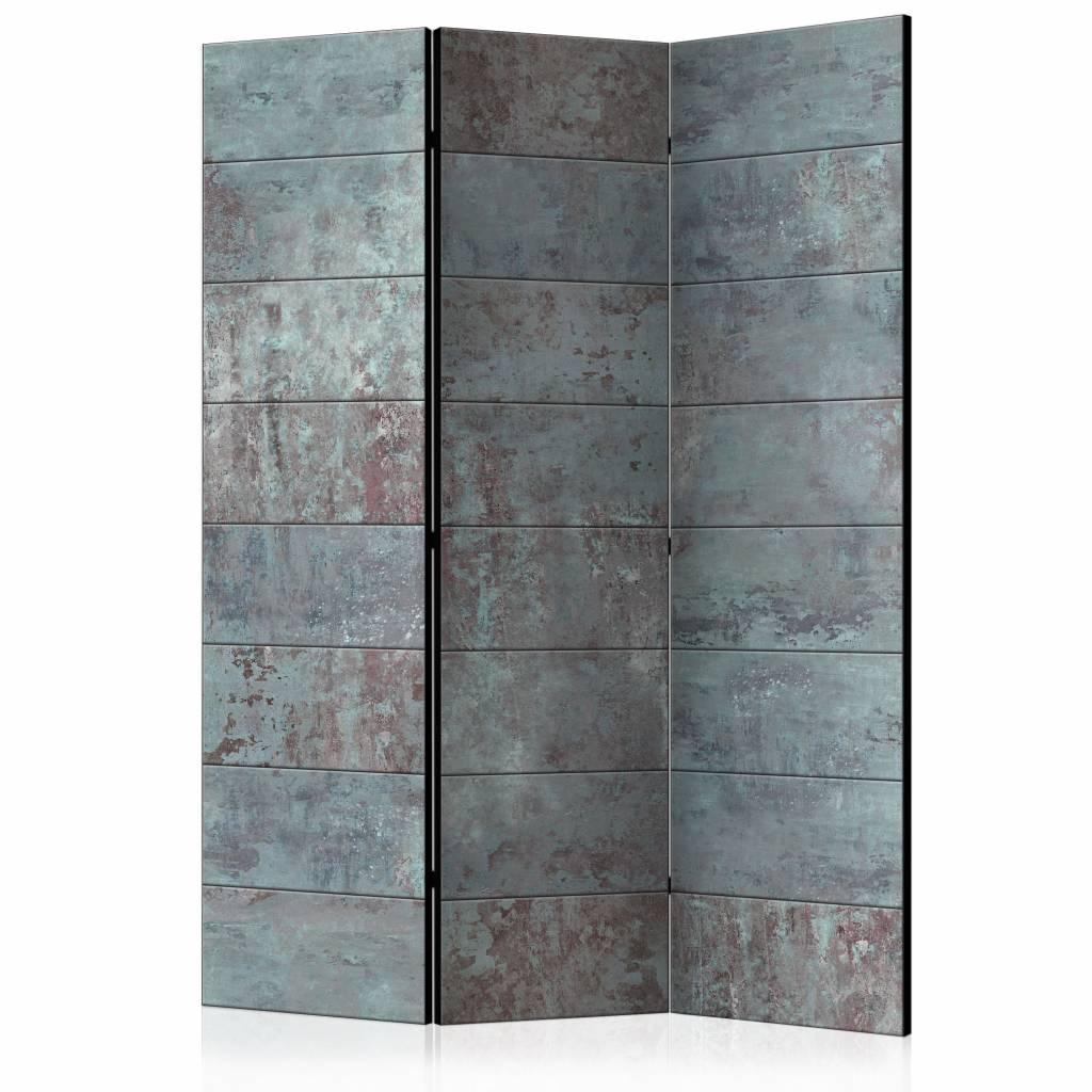 Vouwscherm - Turquoise Beton 135x172 cm