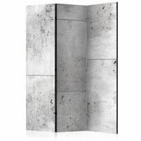 Vouwscherm - Muur van Beton 135x172 cm , gemonteerd geleverd (kamerscherm)