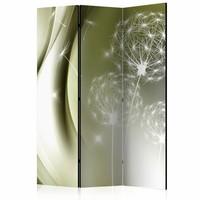 Vouwscherm - Paardenbloem in groene elegantie 135x172 cm