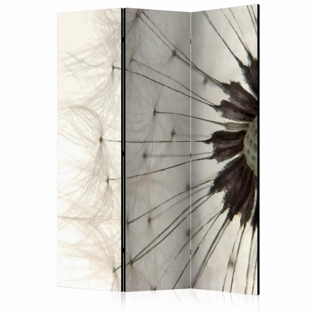 Vouwscherm - Witte Paardenbloem 135x172 cm
