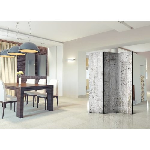 Vouwscherm - Grijze wand van beton 135x172 cm