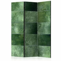 Vouwscherm - Groene puzzel 135x172 cm