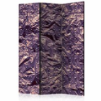 Vouwscherm - Verkreukeld Paars 135x172 cm