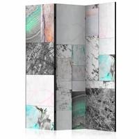 Vouwscherm - Marmeren platen 135x172cm