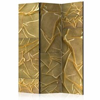 Vouwscherm - Bewondering in Goud 135x172 cm