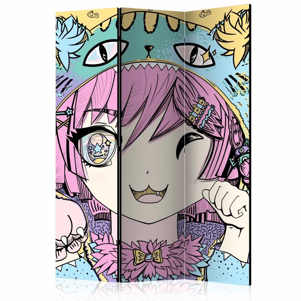 Vouwscherm - Neko Girl 135x172cm
