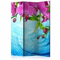 Vouwscherm - Orchideeën over water  135x172cm
