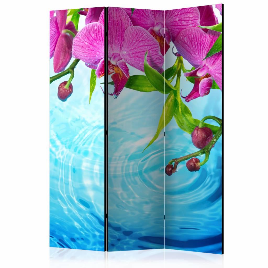 Vouwscherm - Orchidee�n over water 135x172cm