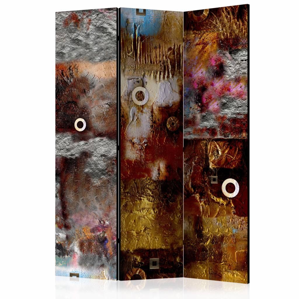 Vouwscherm - Abstracte wand 135x172 cm