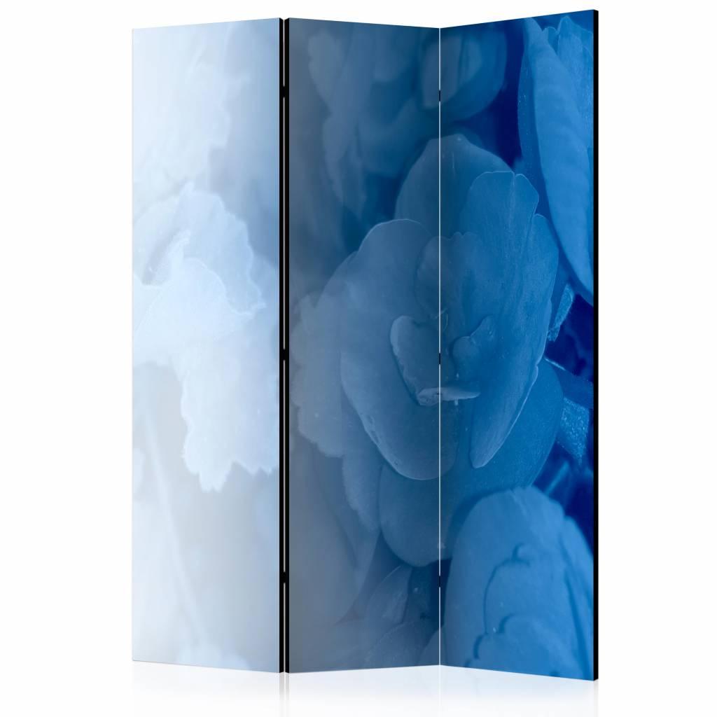 Vouwscherm - Blauw boeket 135x172cm