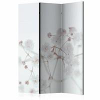 Vouwscherm - Witte bloemen 135x172cm  , gemonteerd geleverd (kamerscherm)