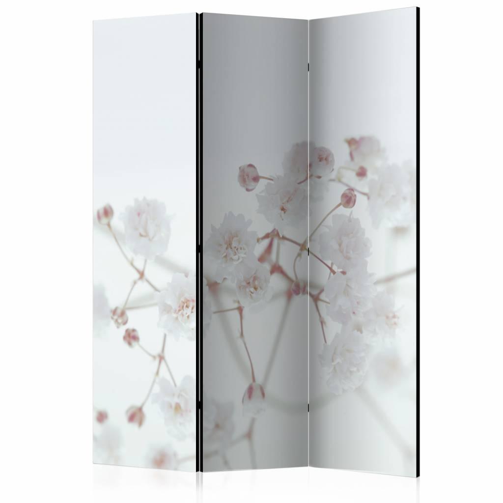 Vouwscherm - Witte bloemen 135x172cm