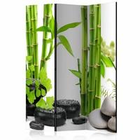Vouwscherm - Bamboe en stenen 135x172cm