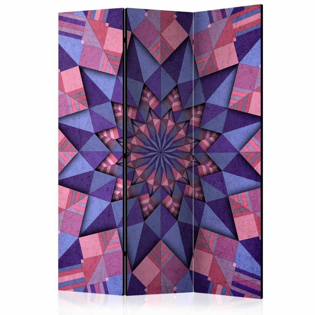 Vouwscherm - Star Mandala (Pink-Violet) 135x172cm