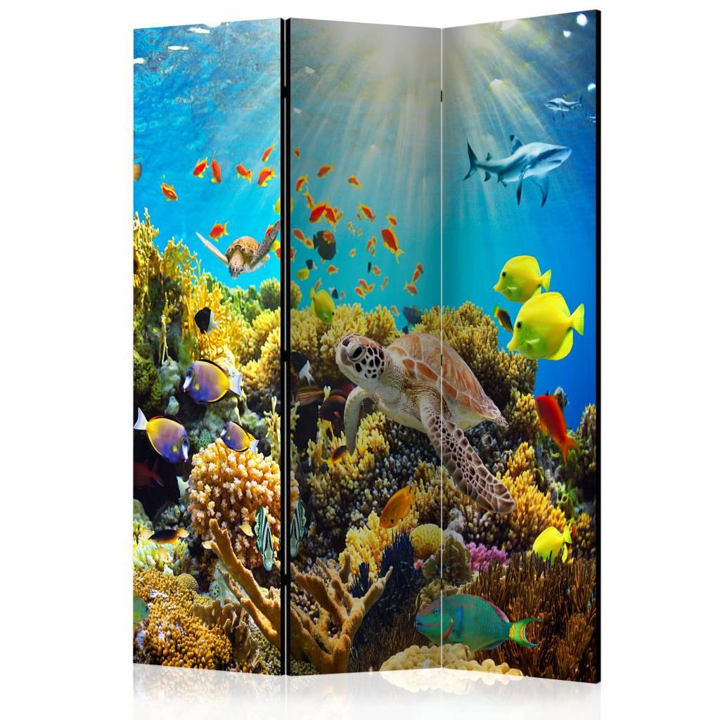 Vouwscherm - Onderwater land 135x172cm