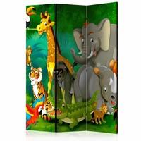 Vouwscherm - Kleurrijke safari 135x172cm