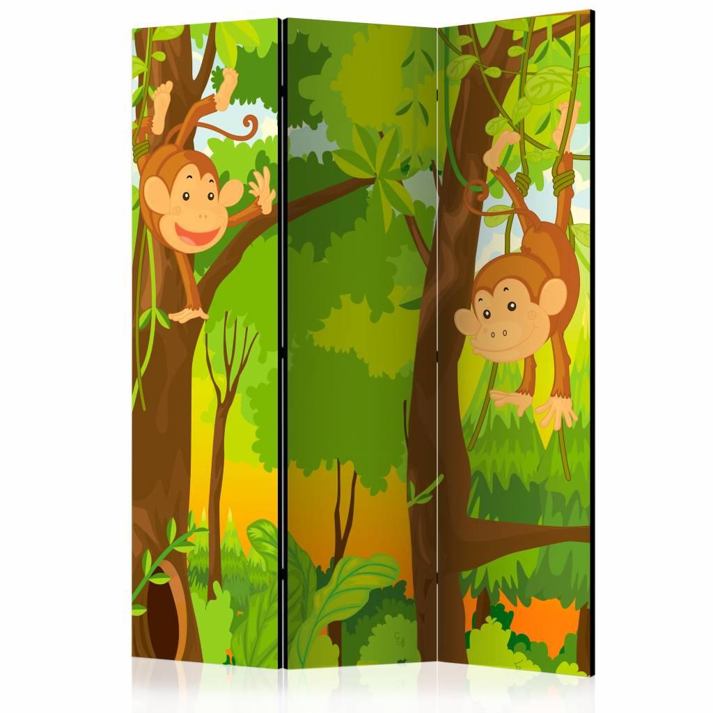 Vouwscherm - Jungle aapjes 135x172cm