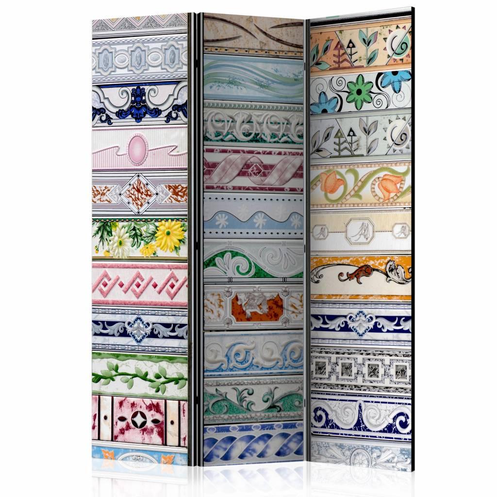 Vouwscherm - Collectie van tegels 135x172cm