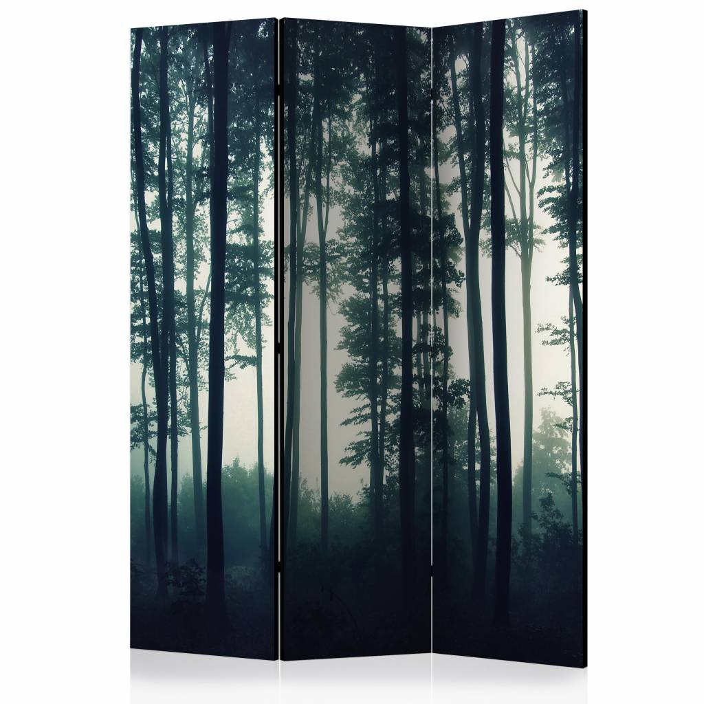 Vouwscherm - Natuur: Donker bos 135x172cm