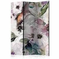 Vouwscherm - Natuur in aquarel 135x172cm