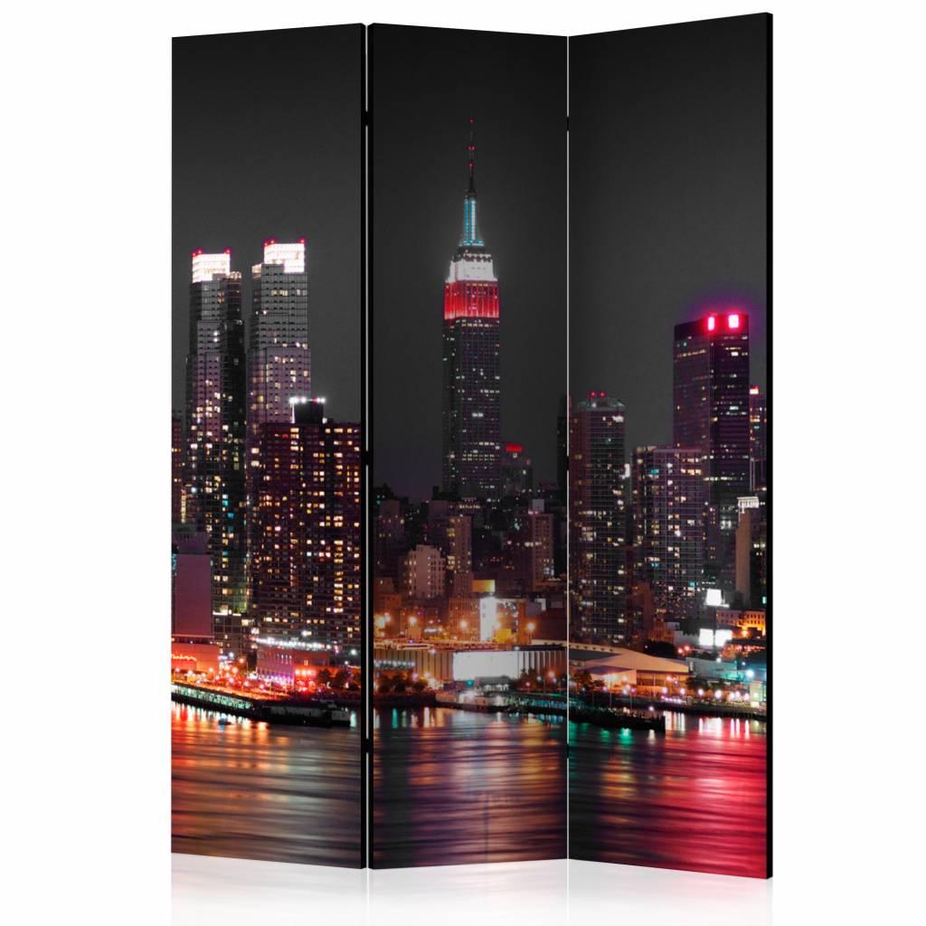 Vouwscherm - Slapeloosheid in New York 135x172cm