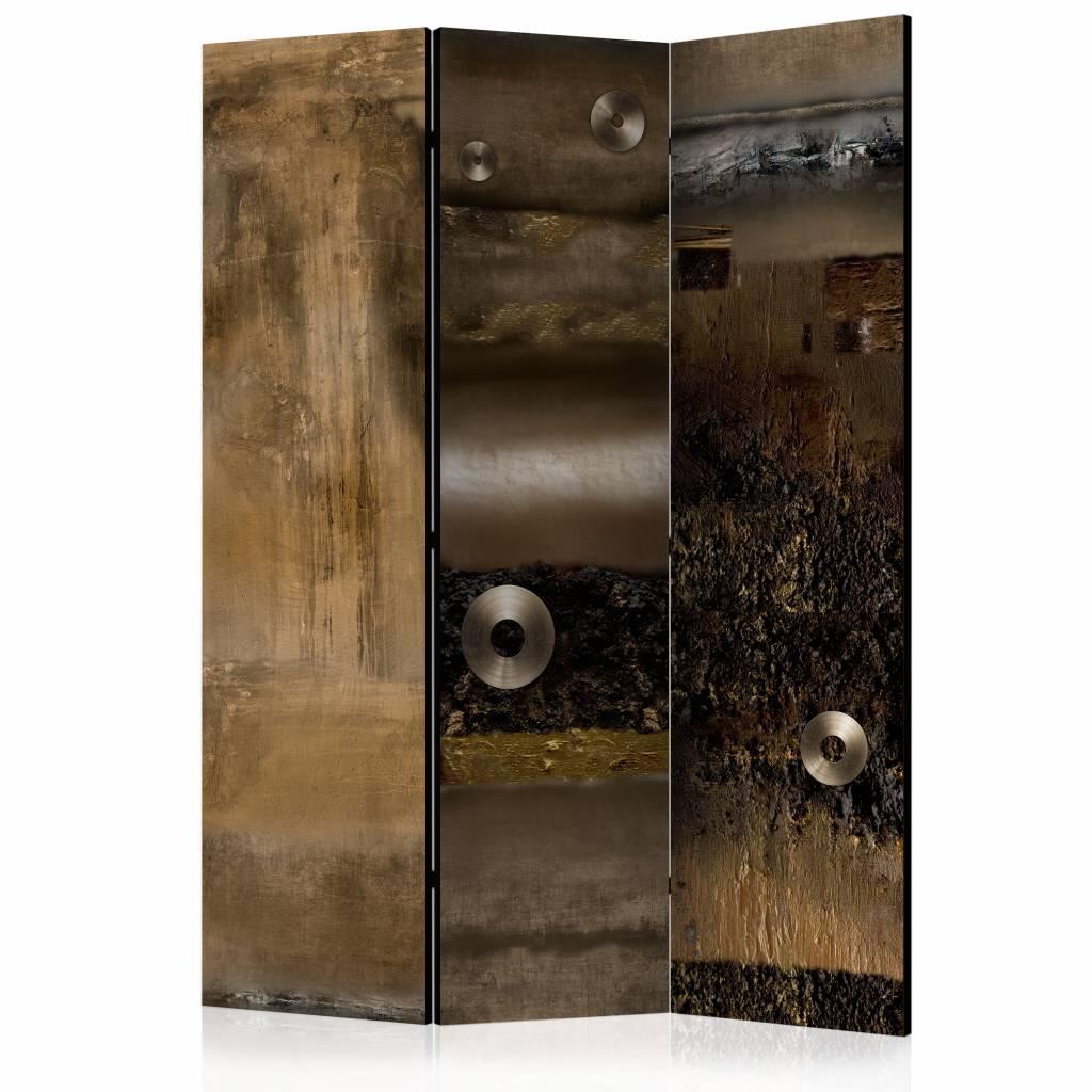 Vouwscherm - Combinatie van metaal (look) 135x172 cm (canvas scherm)