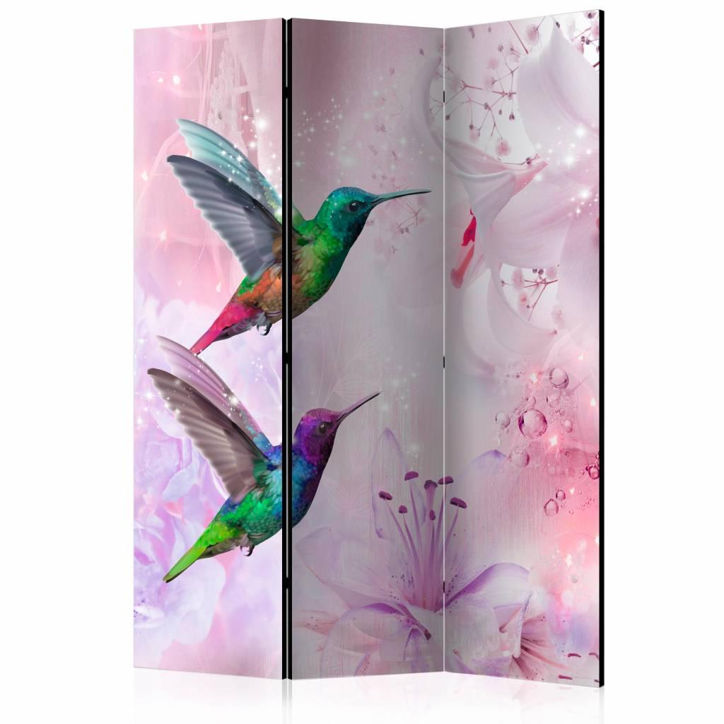 Vouwscherm - Kleurrijke kolibries 135x172cm