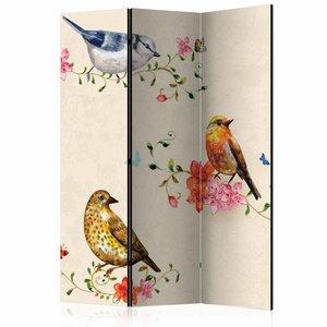 Vouwscherm - Lied van vogels 135x172cm
