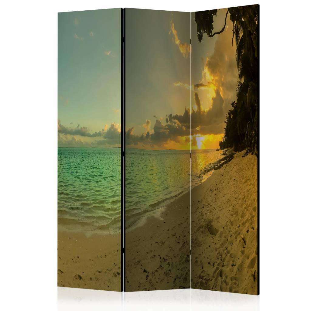 Vouwscherm - Zonsondergang in Tahiti 135x172cm