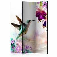 Vouwscherm - Kolibrie 135x172cm  , gemonteerd geleverd (kamerscherm)