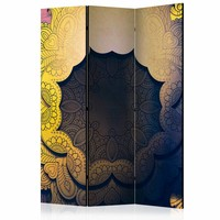 Vouwscherm - Bloemen kraag , geel 135x172cm