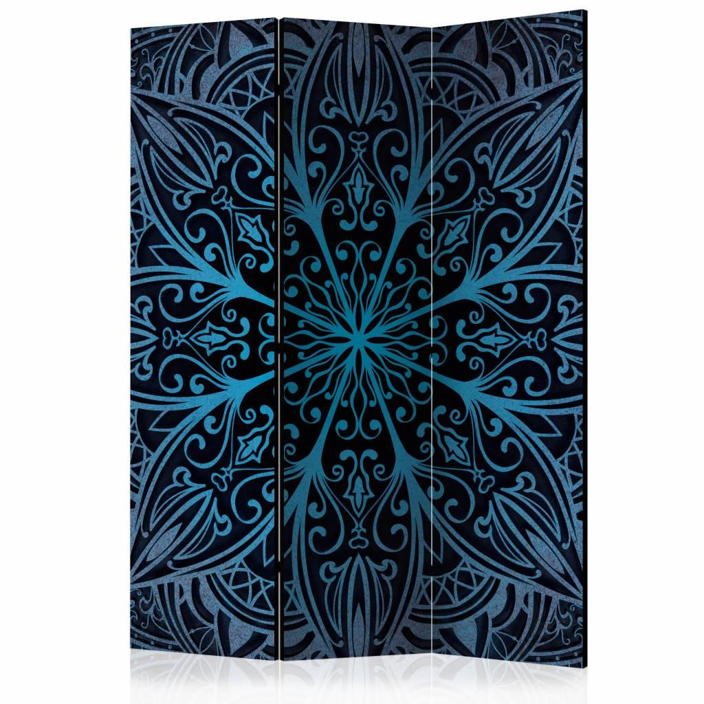 Vouwscherm - Veren, blauw 135x172cm