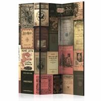 Vouwscherm - Oude Boeken 135x172 cm