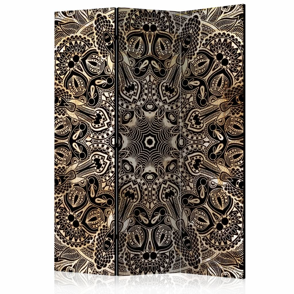 Vouwscherm - Exotische Mandala 135x172 cm