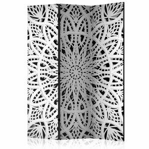 Vouwscherm - White Mandala [Room Dividers]
