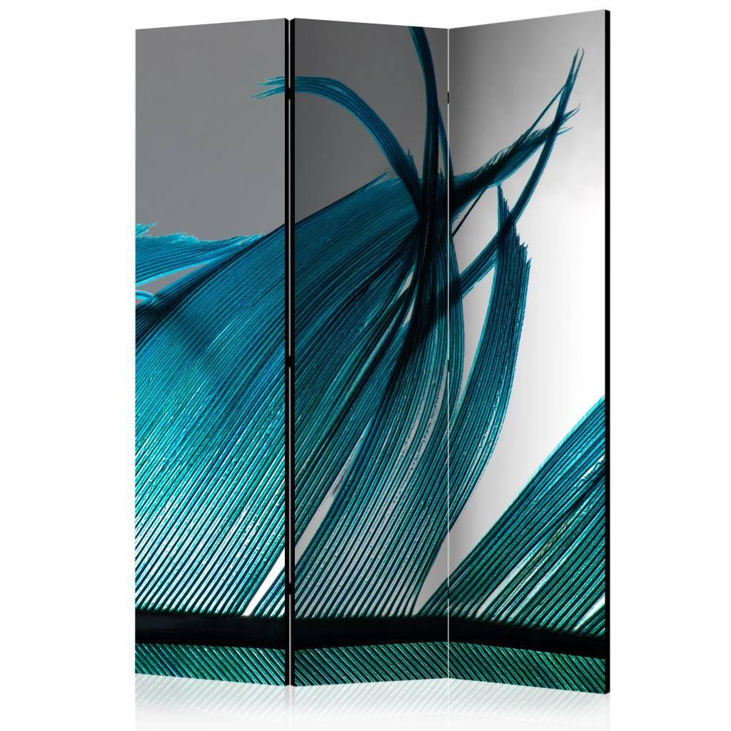 Vouwscherm - Turquoise veer 135x172 cm