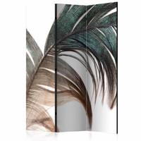 Vouwscherm - Mooie veer 135x172 cm , gemonteerd geleverd (kamerscherm) dubbelzijdig geprint