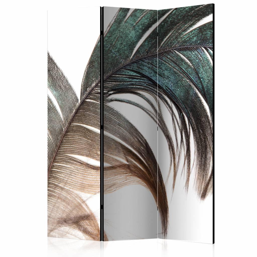 Vouwscherm - Mooie veer 135x172 cm