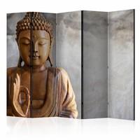 Vouwscherm - Boeddha 225x172cm , gemonteerd geleverd (kamerscherm)