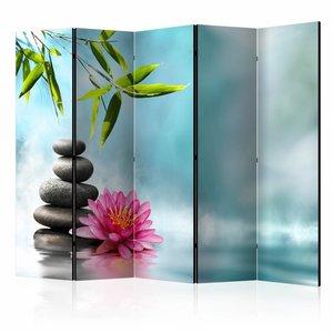 Vouwscherm - Water lelie en Zen stenen 225x172cm
