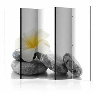 Vouwscherm - Witte Lotus 225x172cm