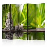Vouwscherm - Boeddha 225x172cm , gemonteerd geleverd (kamerscherm) dubbelzijdig geprint